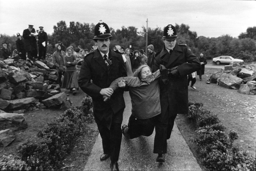 Rebecca Johnson being arrested (image used with permission from Rebecca Johnson).
